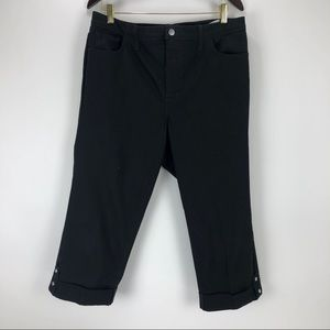 NYDJ Jeans High Rise Crop Bejeweled Capri Size 16W